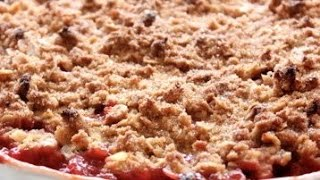 How To Prepare Rhubarb Crumble - Food, Pizza,non Vegetarian, Funny Hot Recipes