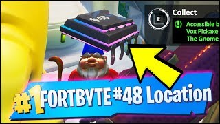 FORTBYTE 48 Location - ACCESSIBLE BY USING THE VOX PICKAXE TO SMASH THE GNOME MOUNTAIN (Fortnite)