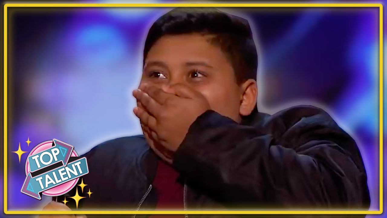 GOLDEN BUZZER | INCREDIBLE Kid Singer Makes His Favourite Judge CRY! | Top Talent
