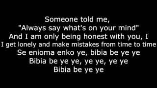 ed sheeran bibia be ye ye lyricslyric video
