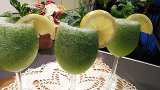 عصير الليمون🍋 والنعناع الفريش🍸 المنعش مشروب رمضان اللذيذ🍸😋بثلاث مكونات بسيطة وسهلة 😉😘