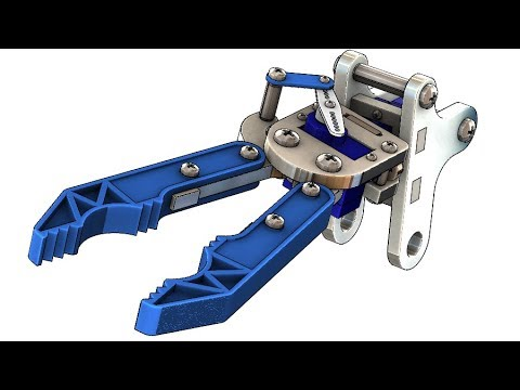 SolidWorks Tutorial #308 : Gripper 2 (robot)