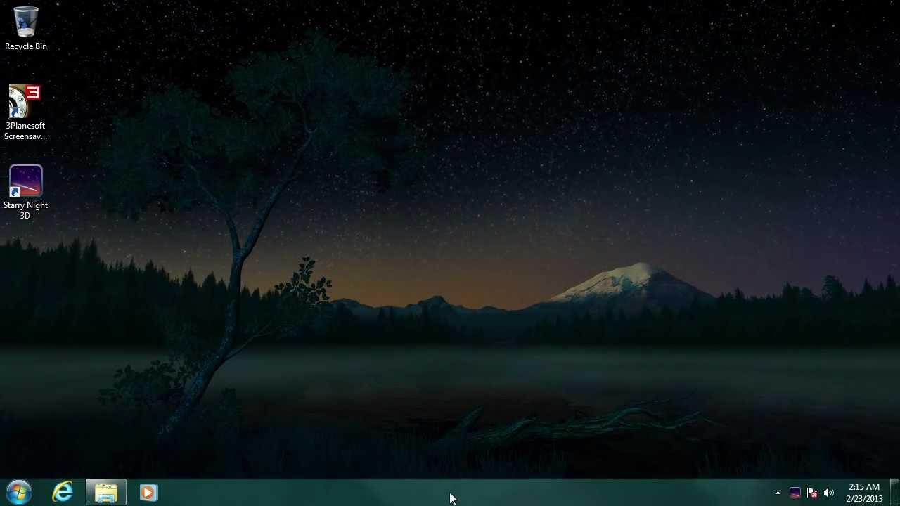 starry night 3d screensaver youtube