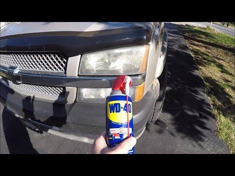 WD40 Headlight Cleaner Restoration