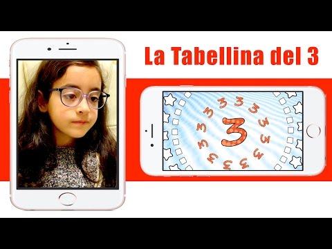 La tabellina del 3 - tabellina del tre - canzoni per bambini - Sofia Del Baldo