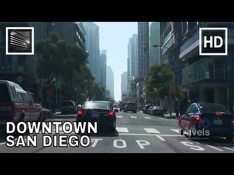 Driving Downtown - San Diego, California - USA