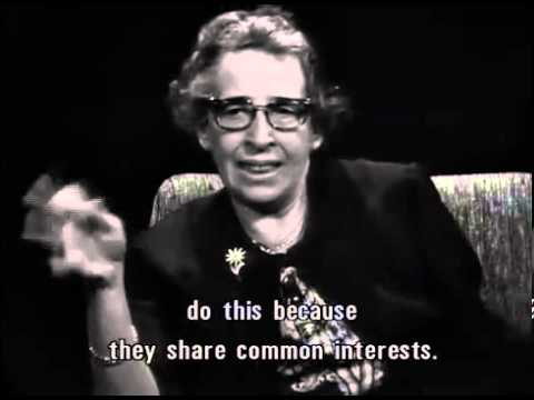 "Clip from ""Hannah Arendt: Zur Person"" (1964) English subtitles"
