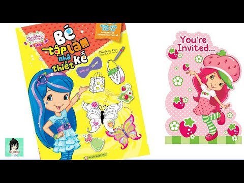 Trò chơi Dán hình-Vẽ- Tô màu Cô Bé Bánh Dâu #1- strawberry girl Bé Tập Làm Nhà Thiết Kế Ami Channel
