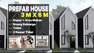 Download Lagu Prefab House, Rumah Mungil Kecil tapi BAGUS, EFISIEN dan EKONOMIS ukuran 3x6 M   referensi Mendekor mp3