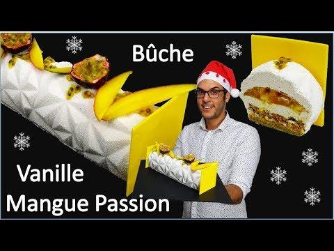 Comment réaliser une bûche de Noël vanille mangue passion ?