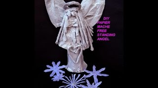 Diy Papier Mache Angel - Free Standing Country Style - Christmas Angel - Sculpture, Paper Arts