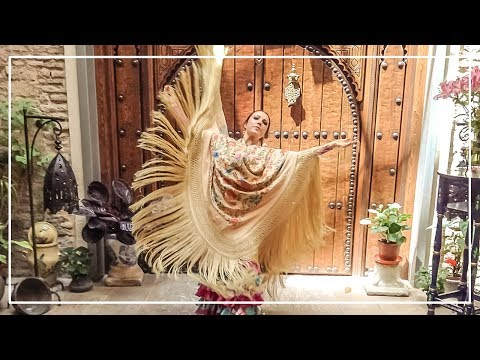 Baile Flamenco - Casa de la Memoria - Alegrias de Cadiz con mantón