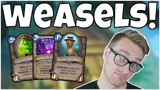 Hearthstone   So Many WEASELS!   Wild Weasel Quest Priest   Rise of Shadows