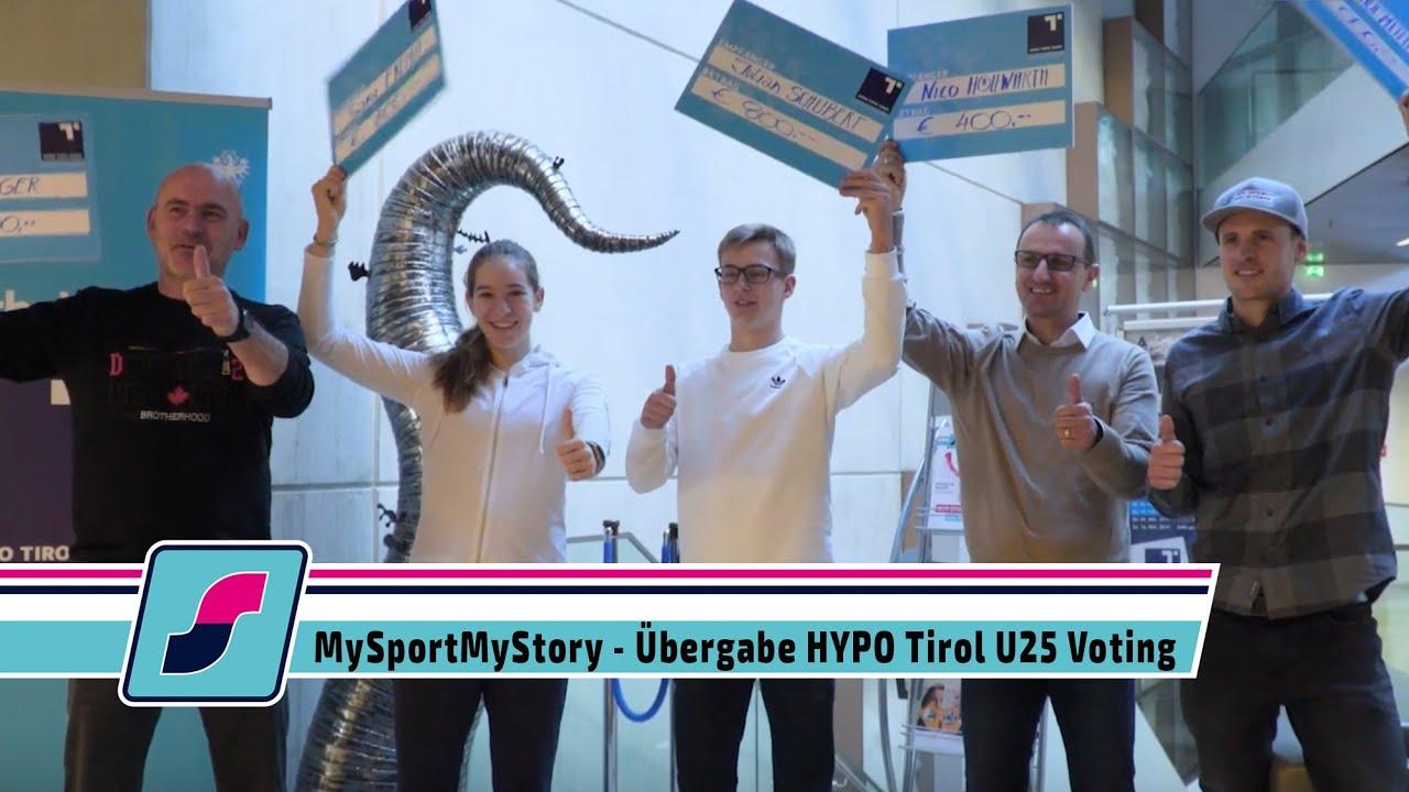 MySportMy Story Voting - Übergabe HYPO Tirol U25 Voting
