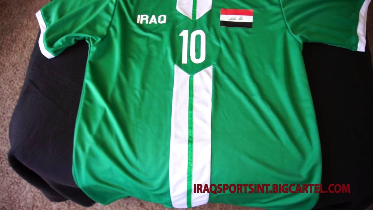 Iraq 2016 Rio Olympics soccer jersey - YouTube 1f74ec33e