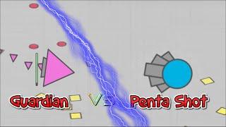 Guardian of Pentagons vs Penta Shot (solo) Diep.io