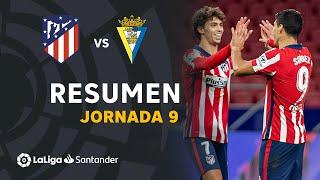 Resumen de Atlético de Madrid vs Cádiz CF (4-0)