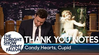 Thank You Notes: Candy Hearts, Cupid