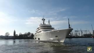 Mega Yacht Eclipse Hamburg 28.02.2015