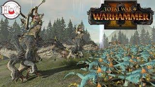 Lizardmen vs High Elves - Total War Warhammer 2 - Online Battle 38