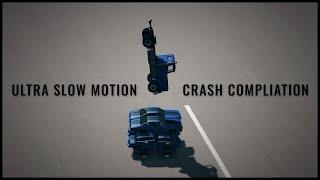 Ultra slow motion car crashes   BeamNG
