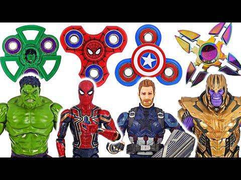 Avengers Fidget Spinner Hulk, Spider-Man VS Thanos! | DuDuPopTOY