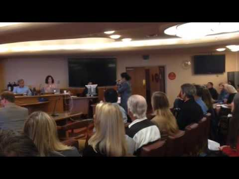 Opponent to animal slaughter in Marin speaks at Planning Commission.