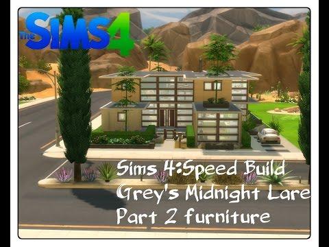 Sims 4--Speedbuild furnishing-- Grey's Midnight Lare