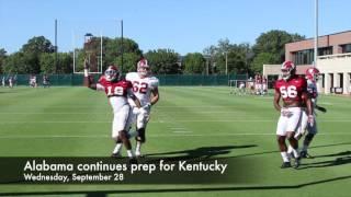 Scenes from Alabama football practice - Kentucky week