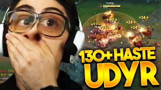 THIS UDYR HASTE BUILD IS F%#@N BROKEN! 130+ ABILITY HASTE @Trick2G