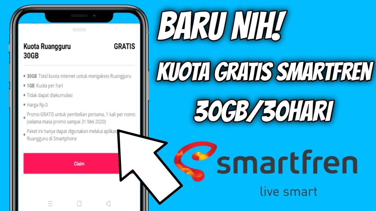 Cara Mendapatkan Kuota Gratis Smartfren 30gb 30hari 2020 Youtube