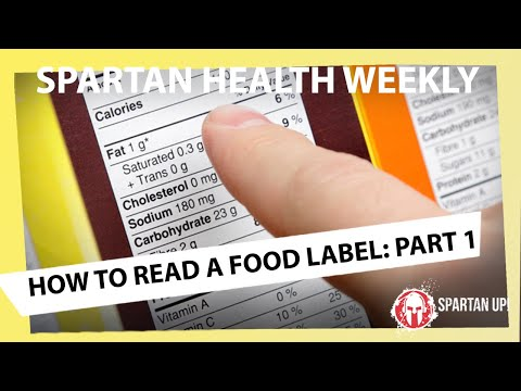 How to Read a Nutrition Label:  Part I // SPARTAN HEALTH 0026