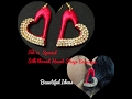 How to Make Silk Thread Heart Shape Earrings / Feb 14th Special Heart Shape Earrings at Home..