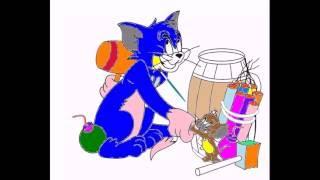 Мультик раскраска Том и Джери .  Cartoon Coloring Tom and Jerry