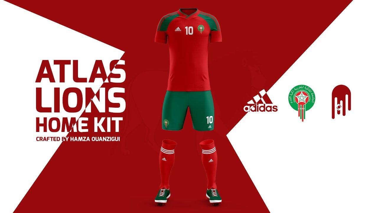 detailed look fd51b 8ef37 Moroccan National Team Kit Design | Speed Art