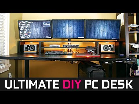 Ultimate DIY PC Desk Build - 2018