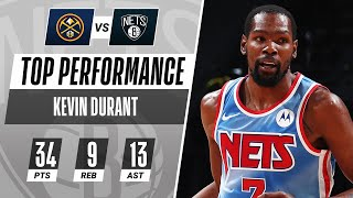 Kevin Durant Fills It Up With 34 PTS, 9 REB & 13 AST In The Nets Victory!