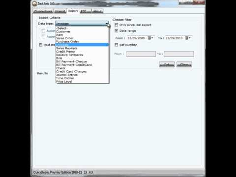 Export transactions from QuickBooks