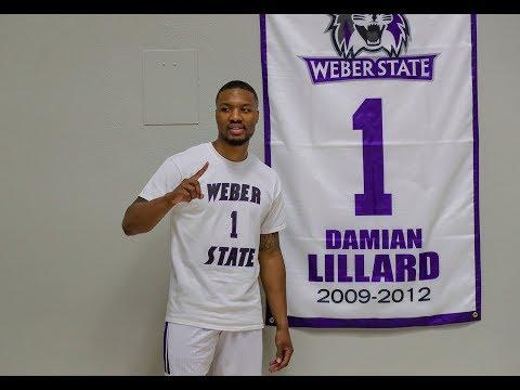 Damian Lillard jersey retirement at Weber State
