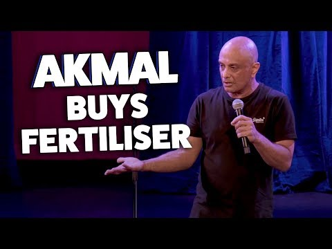 Akmal Buys Fertiliser at Bunnings
