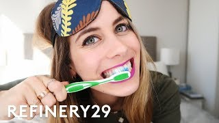 Lucie Fink Shares Her Secret Nightly Routine | Lucie Fink Vlogs | Refinery29