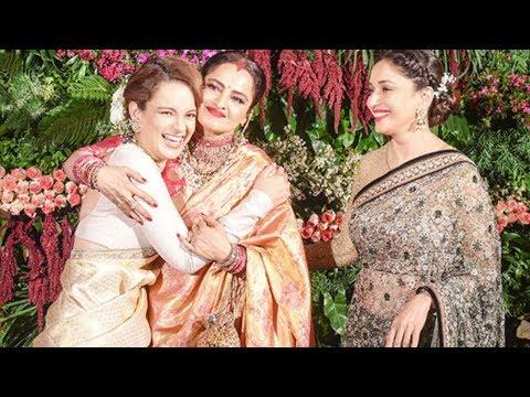 Kangana Ranaut, Madhuri, Rekha Best Moments At Virat Kohli And Anushka Sharma's Wedding Reception