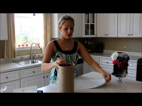 How to make a Headband Holder from an Oat Meal Container