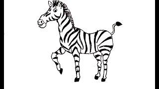 How to Draw a Zebra / जेब्रा का चित्र कैसे बनायें  ||
