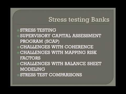Stress testing for banks