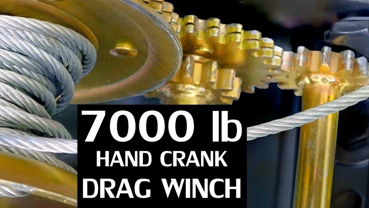 DIY Hand Crank Tow Winch ($35 Ebay winch mod) - YouTube Badlands Winch Wiring Diagram Ebay on
