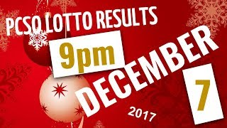 Lotto Results December 7, 2017, 9:00 PM ft. 6-49, 6-42, 6D, Swertres & EZ2 (Evening Draw)