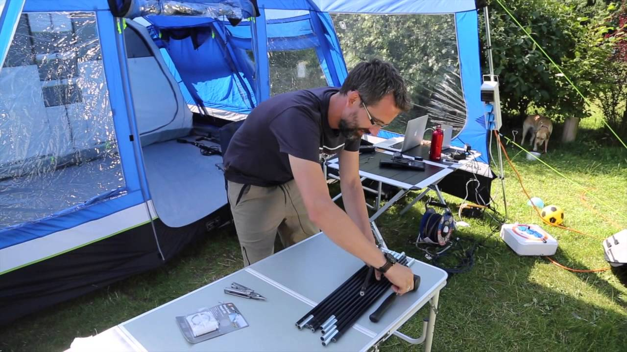 How to repair a broken tent pole & How to repair a broken tent pole - YouTube