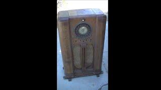 Resurrection Of 1937 CO-OP Console 3 Band Radio Coop Radio