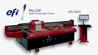 EFI Pro 24f Flatbed Printer Video